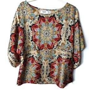 KAS for Anthropologie Windstar Bohemian Top, Sz 12